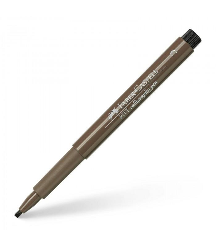 Marker maro Pitt Artist Pen Caligrafic FABER - CASTELL