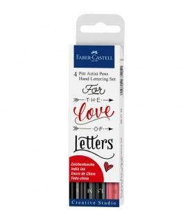 Marker Pitt Artist Pen Caligrafic set 4 bucati FABER - CASTELL