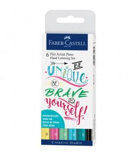 Marker Pitt Artist Pen Caligrafic set 6 bucati FABER - CASTELL