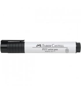 Marker 2.5 mm alb Pitt Artist Pen Big Brush FABER - CASTELL