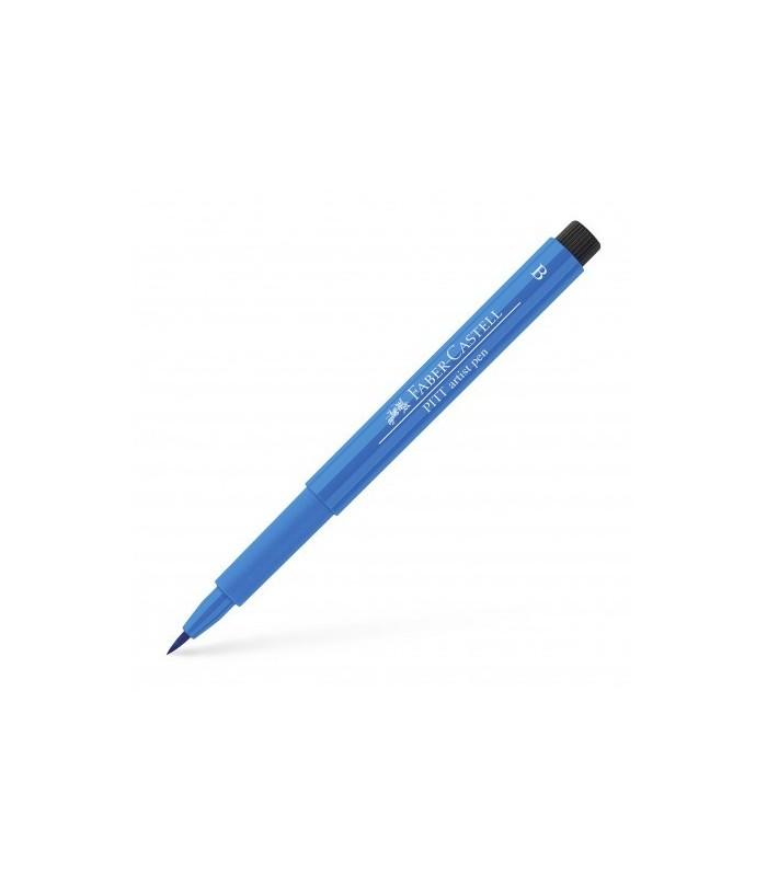 Marker albastru inchis Pitt Artist Pen Brush FABER - CASTELL