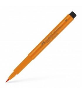Marker portocaliu Pitt Artist Pen Brush FABER - CASTELL