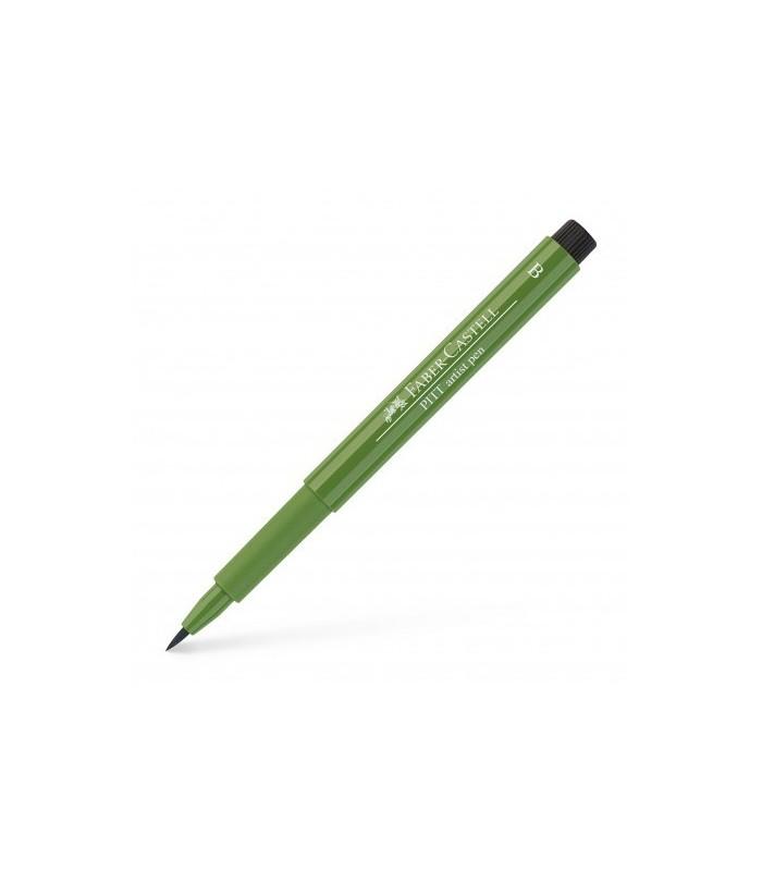 Marker verde oliv Pitt Artist Pen Brush FABER - CASTELL