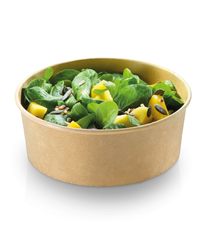 Bol salata 680 ml, Ø 150 x 60 mm, natur, 50 buc/set, NATURESSE