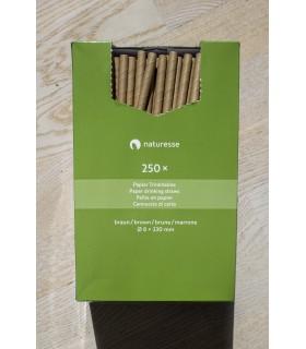Paie biodegradabile Ø 0.8 x 23 cm, maro, 250 buc/set NATURESSE