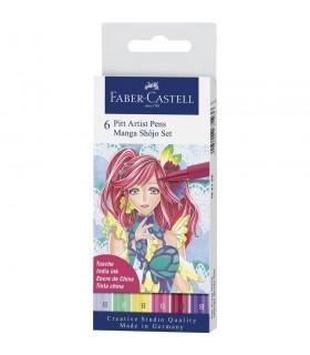 Marker 6 bucati Pitt Artist Pen Manga Shojo 2019 FABER-CASTELL