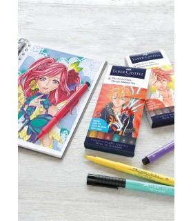 Marker 6 bucati Pitt Artist Pen Manga Kaioro 2019 FABER-CASTELL