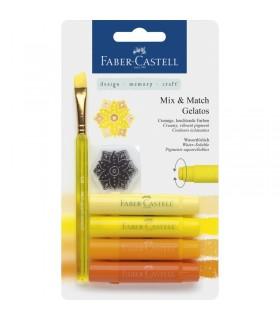 Set 4 pasteluri solubile Gelatos nuante galben FABER-CASTELL
