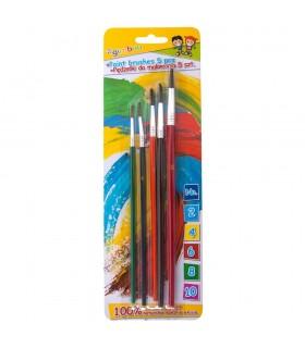 Set 5 pensule/blister (nr. 2-4-6-8-10), culori asortate GIMBOO
