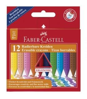 Creioane colorate plastic 12 culori Grip FABER-CASTELL