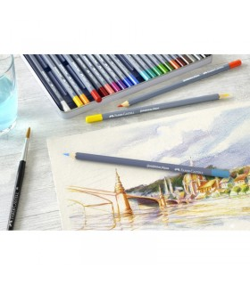 Creioane colorate Aquarelle 24 culori Goldfaber cutie metal FABER-CASTELL