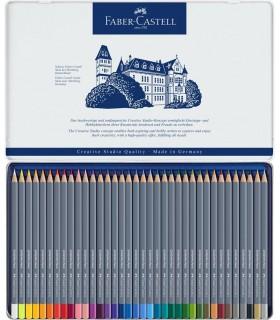 Creioane colorate Aquarelle 36 culori Goldfaber cutie metal FABER-CASTELL