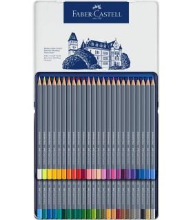 Creioane colorate Aquarelle 48 culori Goldfaber cutie metal FABER-CASTELL