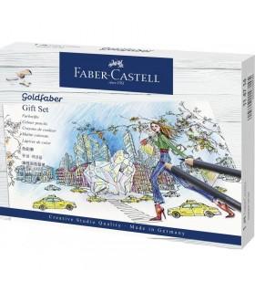 Set cadou pentru colorat 22 piese Goldfaber FABER-CASTELL