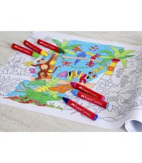 Creioane cerate Jumbo in cutie plastic FABER-CASTELL