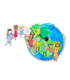 Creioane colorate 12 +3 culori Children of the World FABER-CASTELL