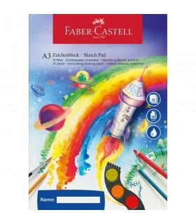 Bloc desen A3 10 file 100 gr FABER-CASTELL