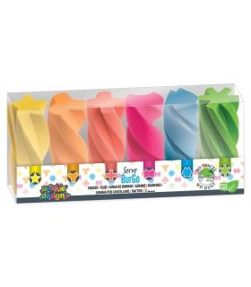 Radiera Burgo 6 culori fluorescente/blister HERLITZ