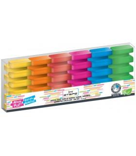 Radiera Steps 6 culori fluorescente/blister HERLITZ