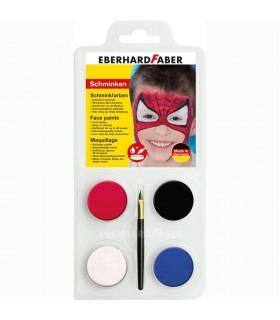 Set machiaj fata copii, 4 culori, Spiderman EBERHARD FABER