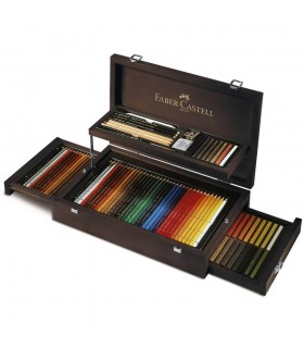 Creioane colorate si accesorii 126 buc / cutie lemn Art and Graphic FABER-CASTELL