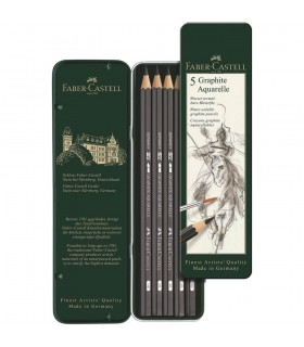 Creioane grafit Aquarelle 5 buc/set FABER-CASTELL