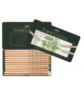 Creioane pastel Pitt 12 culori/cutie FABER-CASTELL