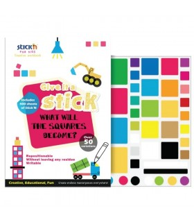 Carte creativa Square - patrate neon asortate STICK