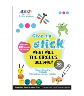 "Carte creativa Circle - cercuri neon asortate STICK""N"
