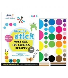 Carte creativa Circle - cercuri neon asortate STICK