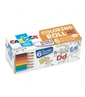 Coloring Roll Mini, 10 x 85 cm/rola, hartie autoadeziva ABC CARIOCA