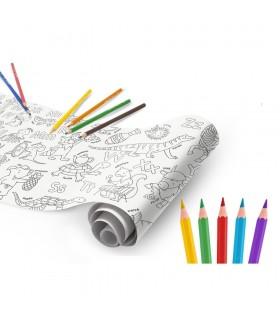 Coloring Roll, 30 x 198 cm/rola, hartie autoadeziva Jungle CARIOCA