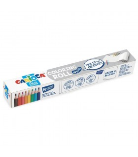 Coloring Roll, 30 x 198 cm/rola, hartie autoadeziva White CARIOCA