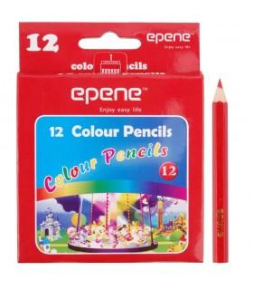 Creioane colorate 1/2, corp hexagonal, 12 culori/cutie, EPENE