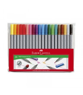 Set liner 20 culori 0.4 mm Grip FABER-CASTELL
