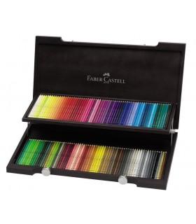 Creioane colorate acuarela, 120 buc/cutie lemn, Albrecht Durer FABER-CASTELL