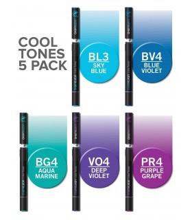 Set 5 markere cu schimbare tonalitate Cool CHAMELEON