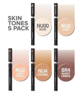 Set 5 markere cu schimbare tonalitate Skin Tones CHAMELEON