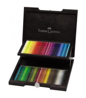 Creioane colorate 72 culori cutie lemn Polychromos FABER-CASTELL