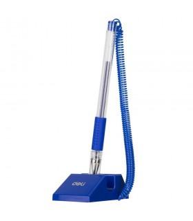 Pix cu suport adeziv si snur 0.5 mm albastru DELI
