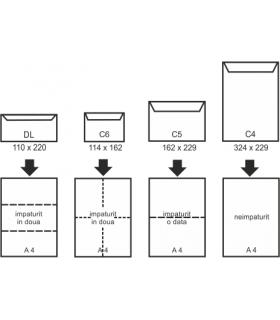Plic C4 port document, 500 buc/set, transparent GPV