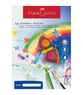 Bloc desen A4 100 file 100 g/mp FABER-CASTELL