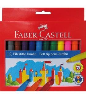 Carioca Jumbo 12 culori FABER-CASTELL