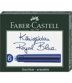 Cartuse cerneala mici 6 buc/cutie FABER-CASTELL