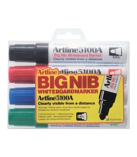 Marker tabla varf rotund 5 mm 4 culori/set 5100A ARTLINE