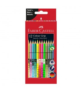 Creioane colorate 12 culori speciale GRIP 2001 FABER-CASTELL