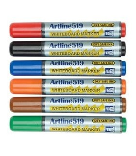 Marker tabla  varf tesit 2 -5 mm Dry safe ink 6 cul/set 519 ARTLINE