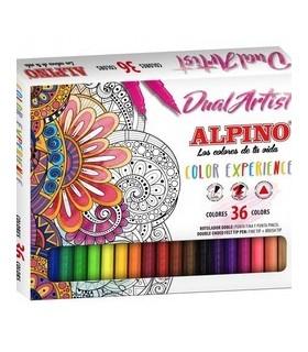 Carioca cu 2 capete, 36 culori/set, Dual Artist ALPINO