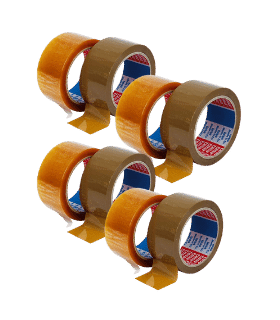 Pachet PROMO 36 banda adeziva 66 m x 48 mm, adeziv cauciuc sintetic, TESA