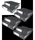 Pachet 25 biblioraft marmorat A4 75 mm negru